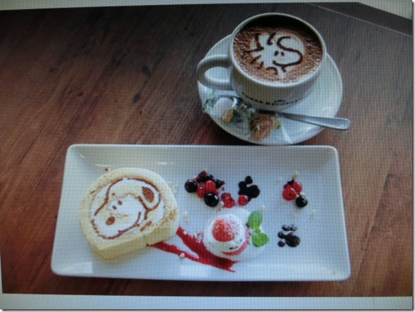 snoopy cafe set menu